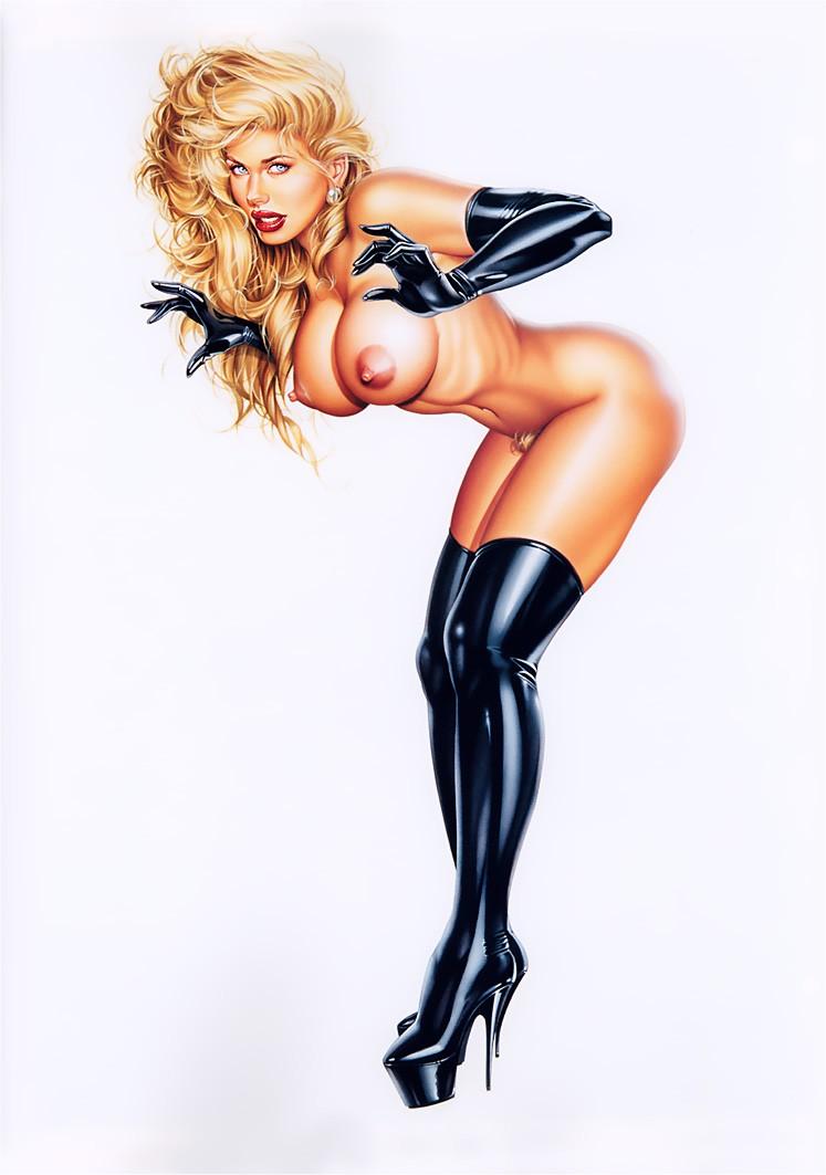 Рисованные сексуальны девушки 6 фотография